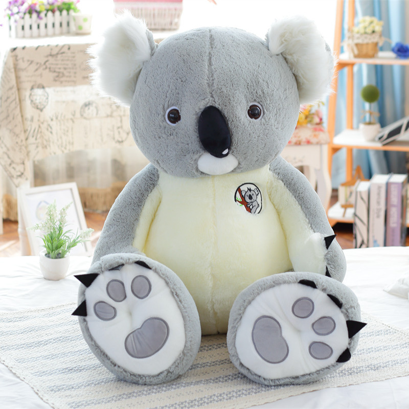 1pc 70cm Cute Koala Plush Toys Children Australian Koala Bear Stuffed Soft Doll Kids Lovely Gift for Girl Baby Birthday Gift 1pcs 22cm fluffy plush toys white eyebrows cute dog doll sucker pendant super soft dogs plush toy boy girl children gift