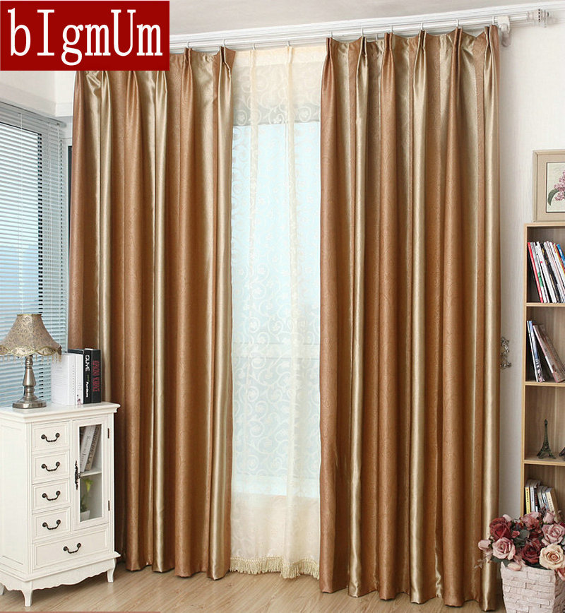 new arrival solid curtains embossed luxury window drape blackout curtains customized ready made free shipping