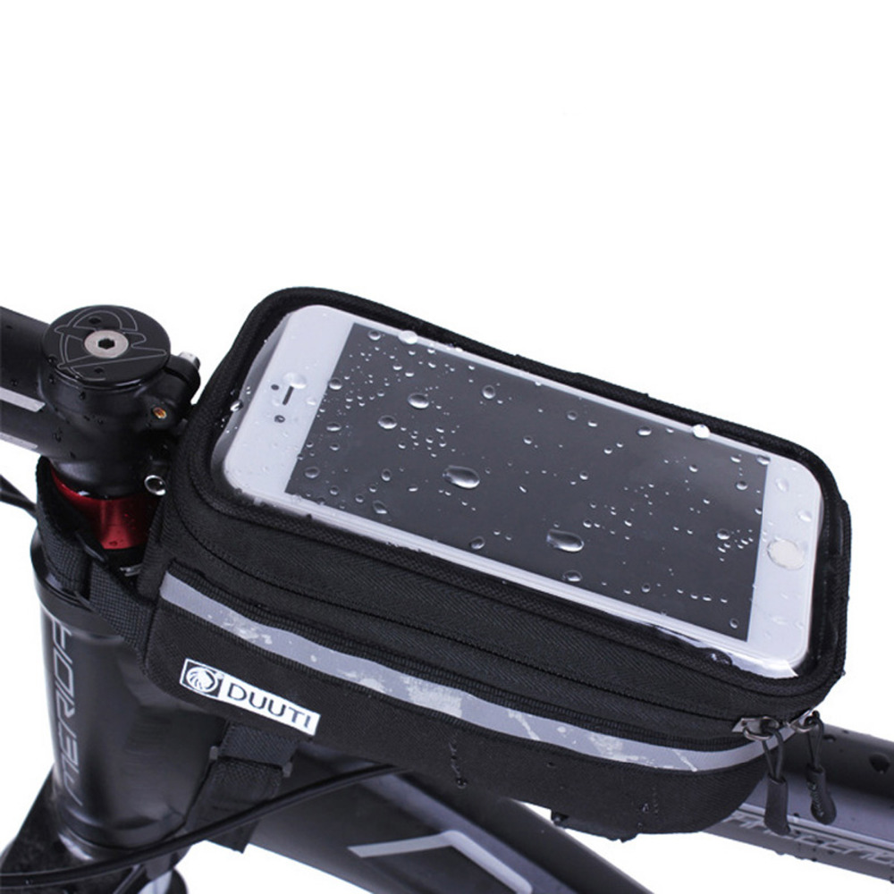 "DUUTI Waterproof 3.5""-5.7"" Cycling Bicycle panniers Frame Front Tube bags For Cell Phone Holder case for MTB Bike Touch Screen"