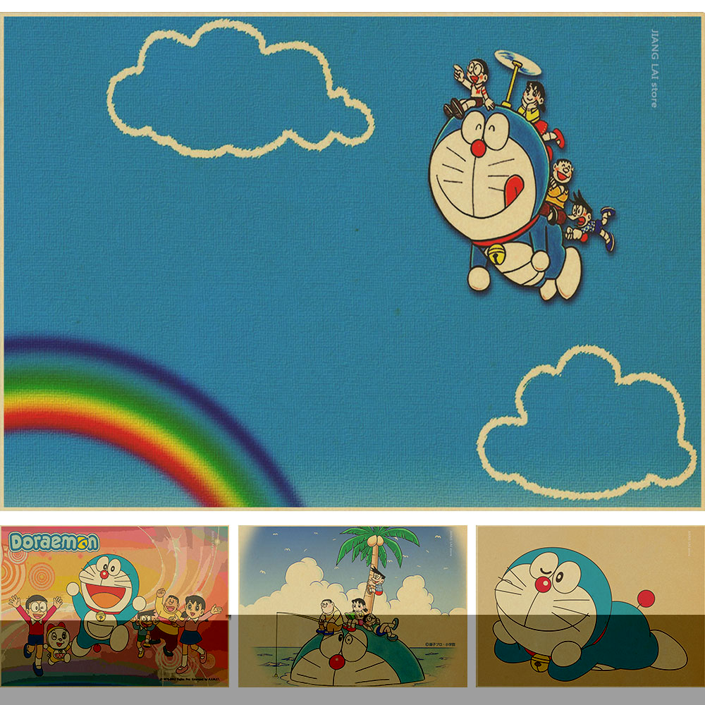 Online Buy Grosir Doraemon Wallpaper From China Doraemon Wallpaper