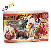 "7.9 ""20 Cm Anime One Piece Nave Pirata Thousand Sunny Mini Ship Model Collettion Pvc Figure Toy Doll"
