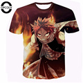 Harajuku tee shirts Classic Anime Natsu Dragneel Fairy Tail Camisetas Hipster 3D camiseta Etherious Caracteres camisetas