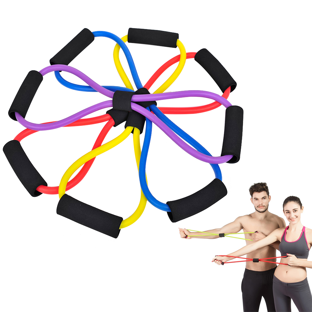8 Type Elastic Tension Rope Gym Fitness Sport Rubber Loop Pull Rope Exercise Stretch Belt Pilates Yoga Belt Random Color sofa elastic webbing sofa tension belt bed elastic bandage