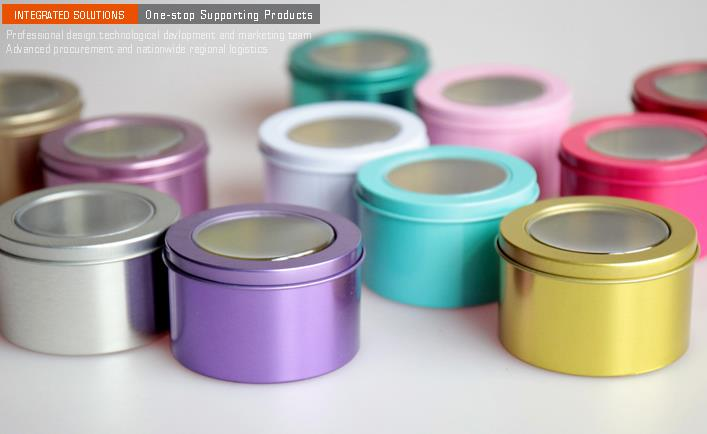 Velkoobchod 100 kusů plechové krabičky kovové kulaté barevné malé svatební cukroví sladké plechovky čaj kontejner jasné víko EMS doprava zdarma