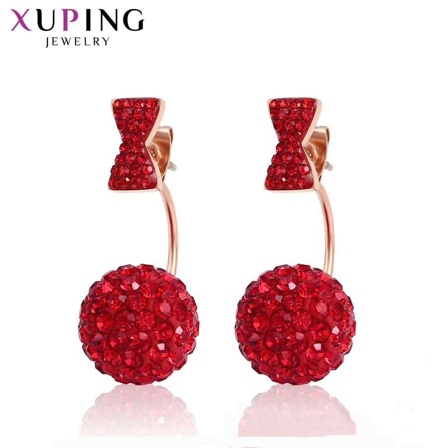 Xuping Designer Fashion Earrings for Women Drop Stainless Steel Jewelry Exquisite Family Party Gift S182.9 /S183.5/ S183.6 -9886