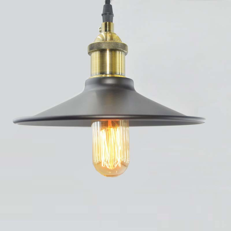 ФОТО Industrial wind umbrella pendant lights bar table lamps lights Nordic Retro pendant lamps American E27 bulb 40W