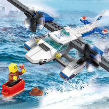 WANGE Enlighten Building Blocks 3D Scale DIY Bricks Toys Airplane Aircraft Police Series Vehicle Model Cops Gift