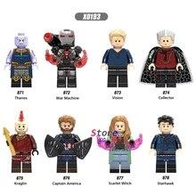 Única Máquina de Guerra Capitão América Starhawk Thanos Visão Coletor Feiticeira Escarlate Kraglin building blocks brinquedos para crianças