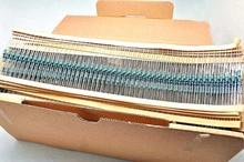 1 5K 1 4W Metal Film Resistor 1 Colored Ring 0 25W Taping 100pcs lot