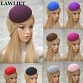 "Good Taste Elegant Solid 5.5"" Women Circle Wool Felt Fascinator Hat Base Millinery Craft Skullies Fashion Ladies Pillbox hat"