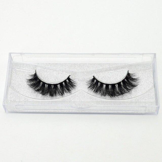 visofree 3D Mink Lashes Eyelash Extension 100% Handmade Thick Volume Long False Lash Makeup Giltter Packing 1 Pair D110 5