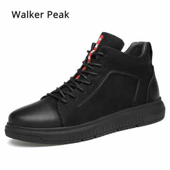 Big size 36-47 Genuine Leather Mens Boots Winter Warm Ankle Snow Boots Men Shoes Fashion Cow Motorcycle Casual Boots Walkerpeak - DISCOUNT ITEM  48% OFF All Category