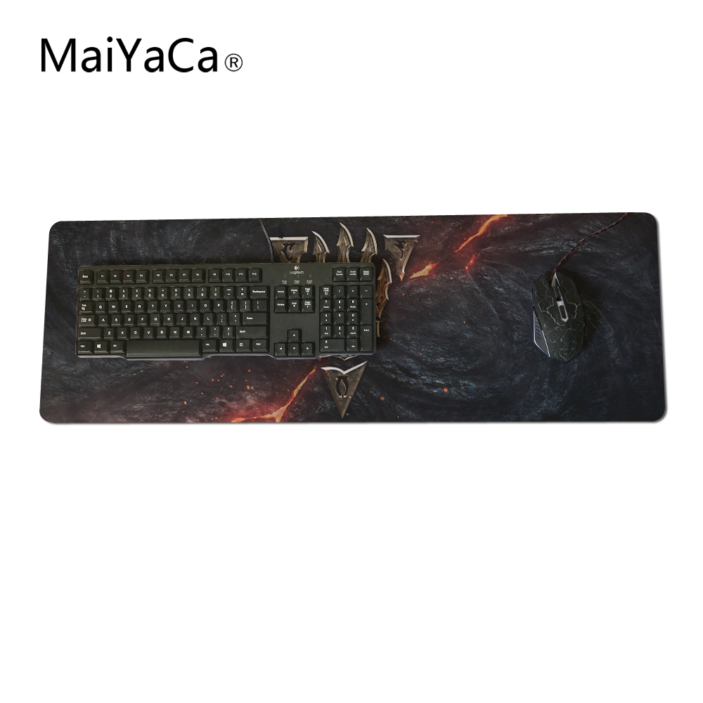 US $8 06 16% OFF|MaiYaCa Top selling Size Morrowind logo Mouse Pad Lock  Edge Game Computer Keyboard Pad Player Speed Control Mousemat-in Mouse Pads