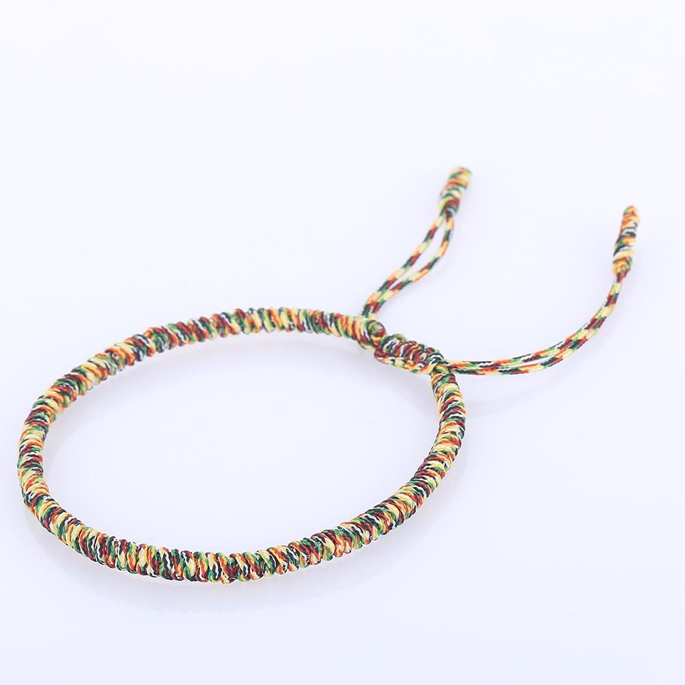 f7a6577b9f597 Handmade Knots Lucky Rope Bracelet Men Tibetan Buddhist Love Lucky Red Rope  Bracelets Adjustable Charm Bracelets Bangles Women-in Charm Bracelets from  ...