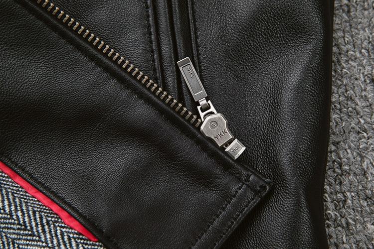 HTB1INXbarj1gK0jSZFOq6A7GpXaV Free shipping.classic casual style,Plus size soft sheepskin Jackets,men genuine Leather jacket.motor biker leather coat,sales