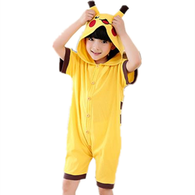Anime Characters Jumpsuit : Anime pokemon pikachu cosplay costume summer jumpsuit