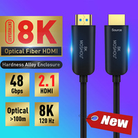 MOSHOU Optical Fiber HDMI 2.1 Cable Ultra HD (UHD) 8K Cable 120Hz 48Gbs with Audio Video HDMI Cord HDR 4:4:4 Lossless amplifier