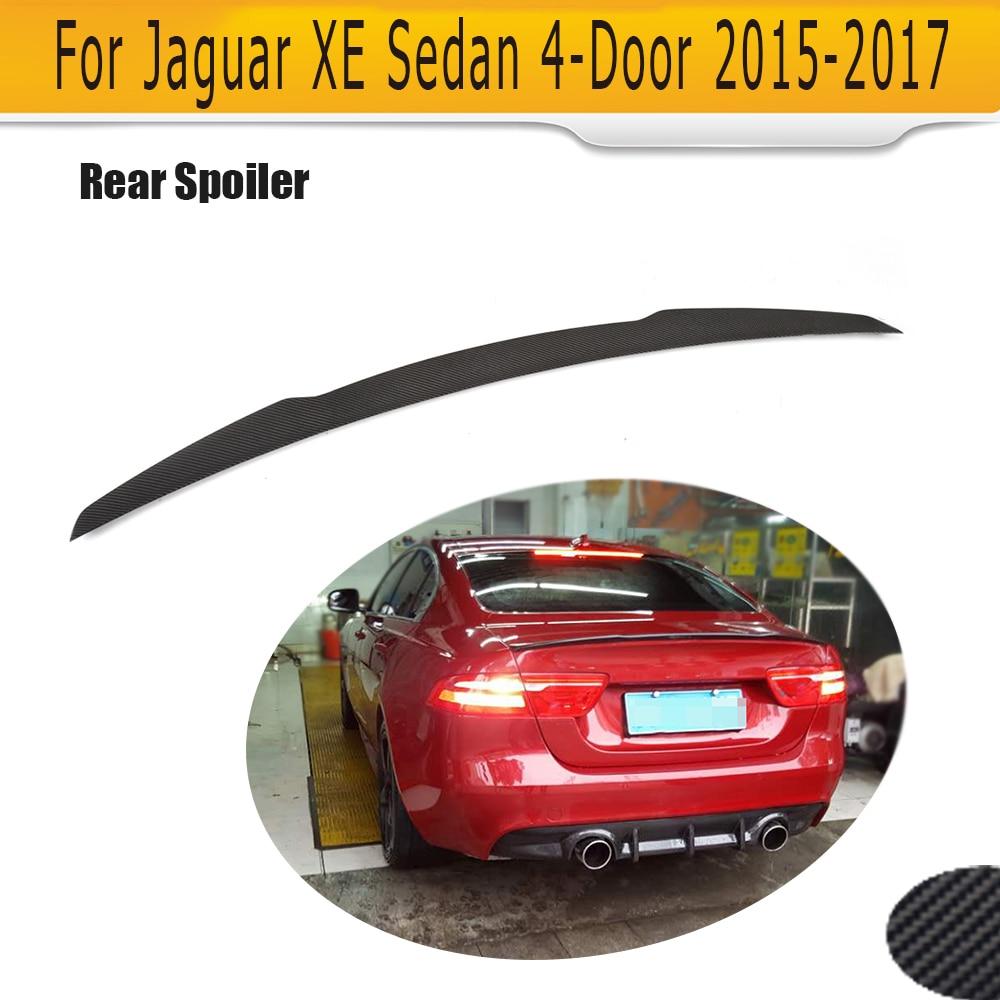 Carbon Fiber Rear Trunk Boot Lip Wing Spoiler για Jaguar XE Sedan 4 Door 2015 2016 2017 Trunk Trim Sticker Custom Spoiler