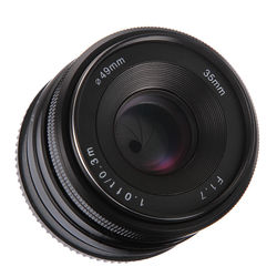 35mm f/1.7 MF Manual Focus Prime Fixed Lens APS-C for Sony NEX E-mount NEX3 3N 5 5T A6000 A6100 A6300 A9 Mirrorless Cameras