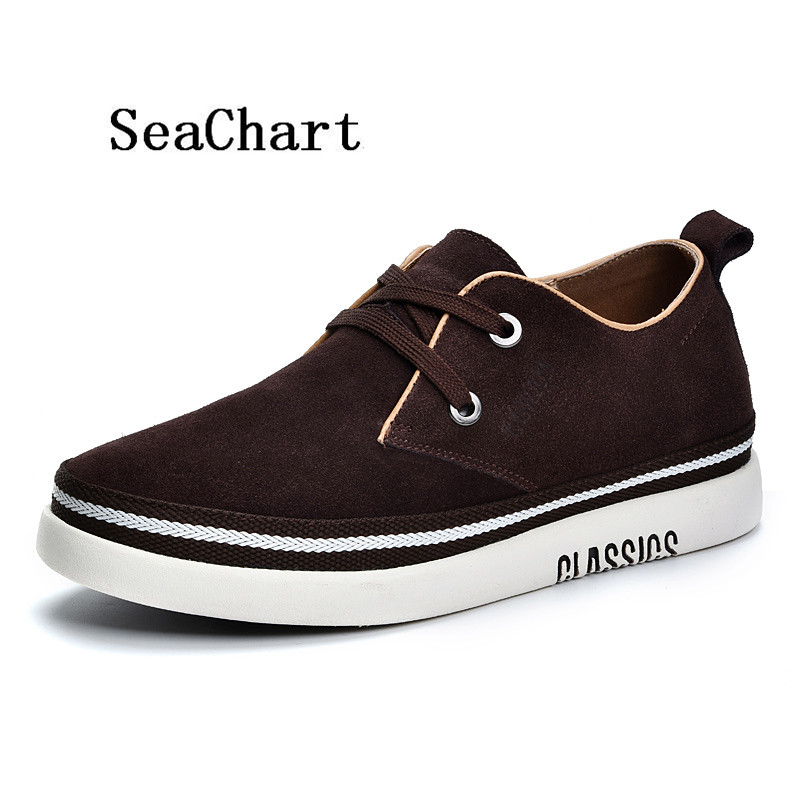 Prix pour SeaChart Hommes Planche À Roulettes de Chaussures Classique Respirant PU En Cuir Intensifient Sneakers Hommes Chaussures skater mâle sneaker Livraison Gratuite