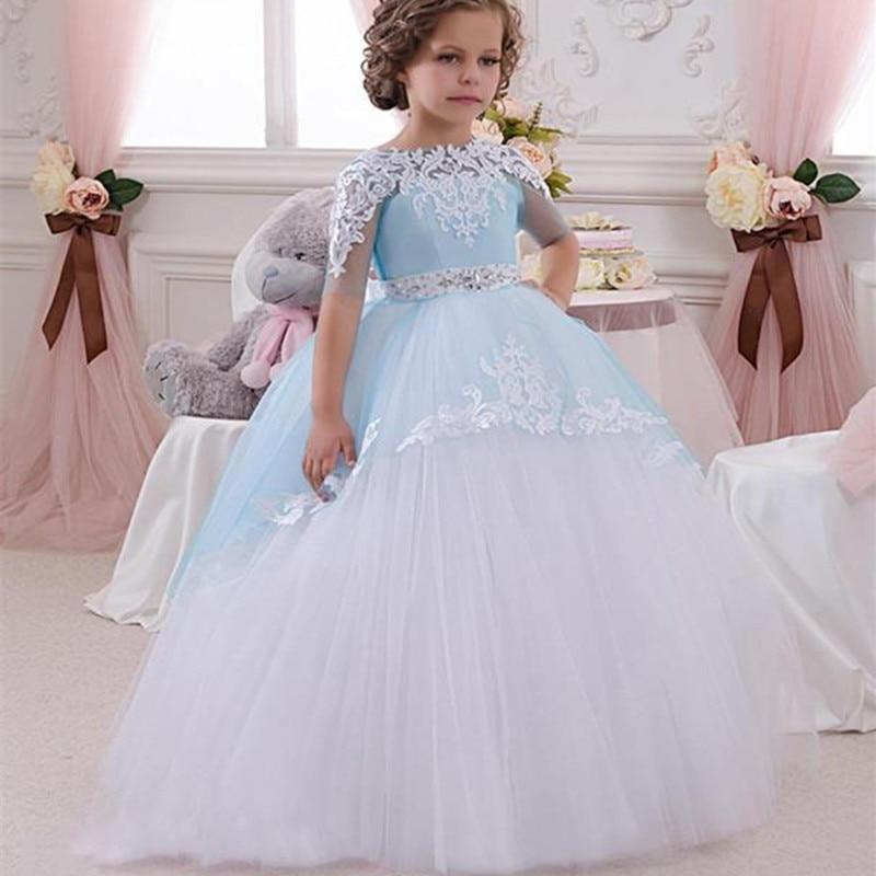 Girl Wedding Dress 2017 Girls New Top Quality Lace Diamond