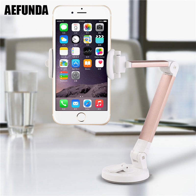 Universal Car Windshield Mobile Phone Holder Mount for iPhone 7 8 6 Plus X Samsung S9 Xiaomi Huawei Mate 10 Lite Desk Stand