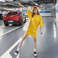 Плюс большой размер топы blusas feminina стиле весна, лето 2016 корейский мода женщины футболки симпатичные свободные конфеты цвет сплит топ A0404
