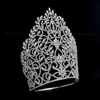 Высокие большие короны Украшенные стразами регулируемая повязка на голову для торжеств или свадебные украшения для волос queen winner ручной ра