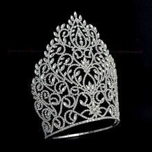 Headband Tiaras Crowns Jewelry-Queen Rhinestone Pageant Wedding-Hair for Bridal Winner