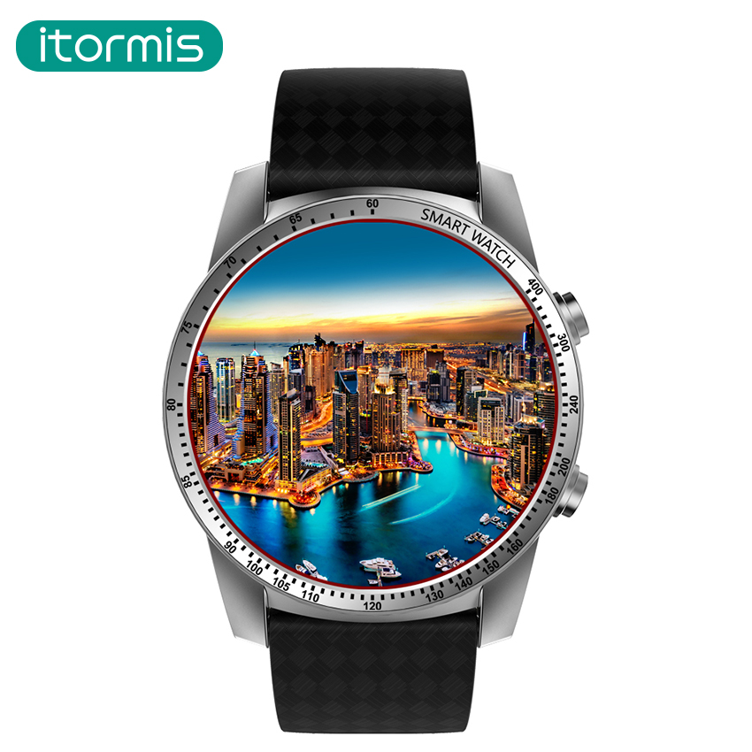 itormis Android bluetooth Smart Watch SIM Card Smartwatch 3G MTK6580 Quad Core Google WiFi GPS ROM8G RAM512M for Android IOS
