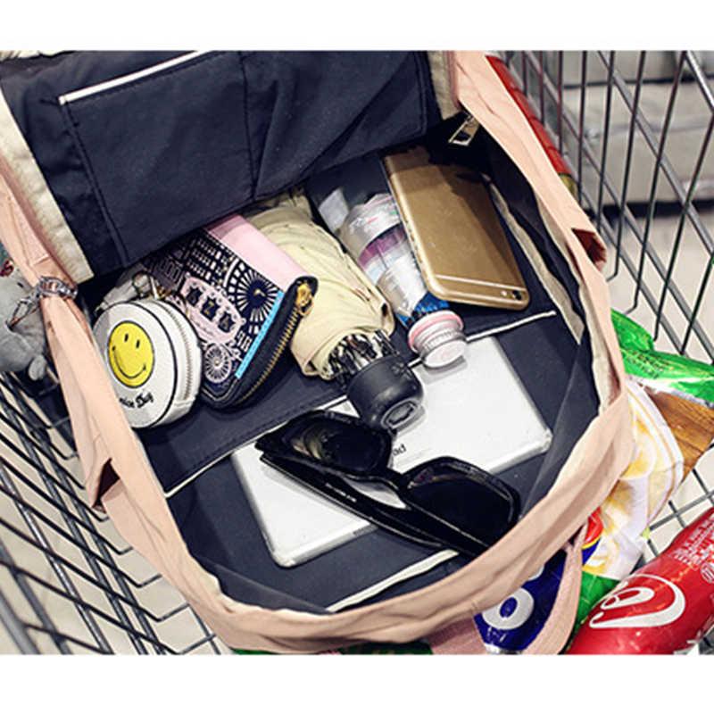 Повседневный водонепроницаемый нейлоновый рюкзак для женщин, Одноцветный, большой емкости, школьные сумки для девочек-подростков, Harajuku, мульти-карман, рюкзак для путешествий 2019