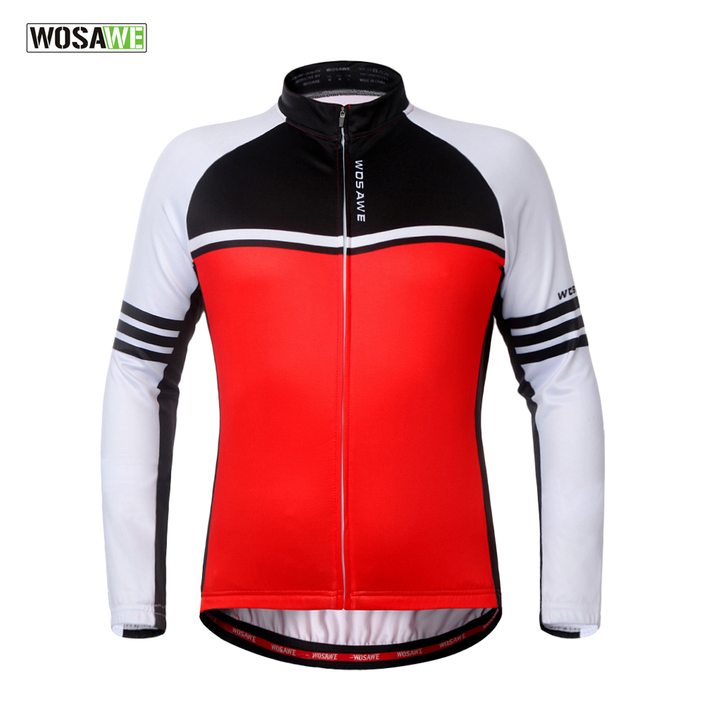 WOSAWE Fleece Cycling Jersey Long Sleeved Jacket Men & Women Winter Shirts Coat Bike Jersey Out Sports Windproof Jerseys tampa bay молния джерси adidas нхл jerseys для мужчин climalite аутентичные команды хоккей jersey jersey jerseys ман jerseys нхл