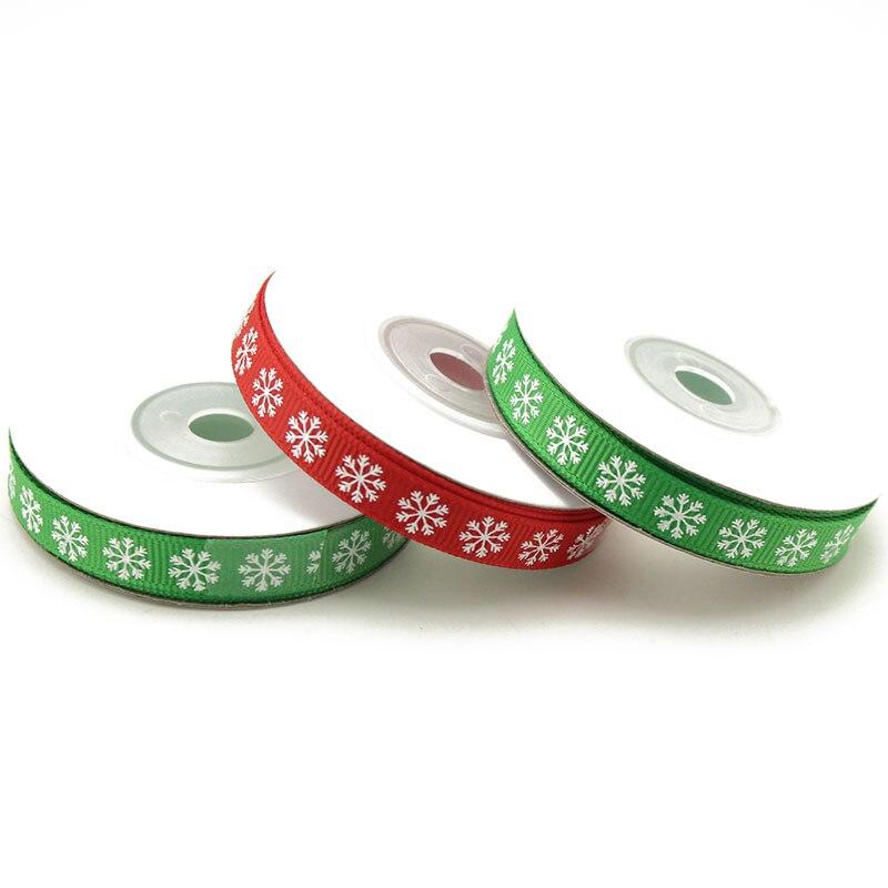 9 метров/рулон, 1 см, ленты в рубчик с принтом для упаковки рождественских бантов, декоративные материалы для украшения своими руками LX780