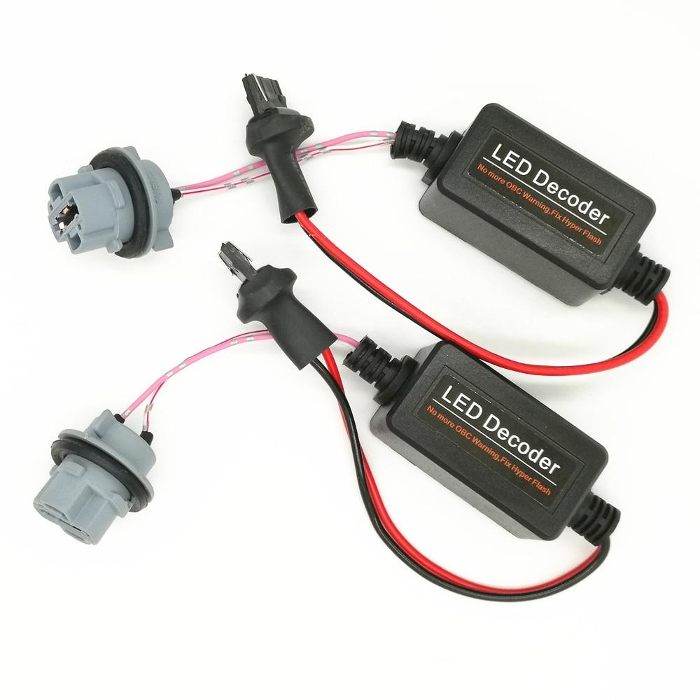 2 шт. 7440 W21W T20 Canbus безошибочный резистор светодиодный декодер Предупреждение об ошибке отменитель для светодиодный лампы (6,8)
