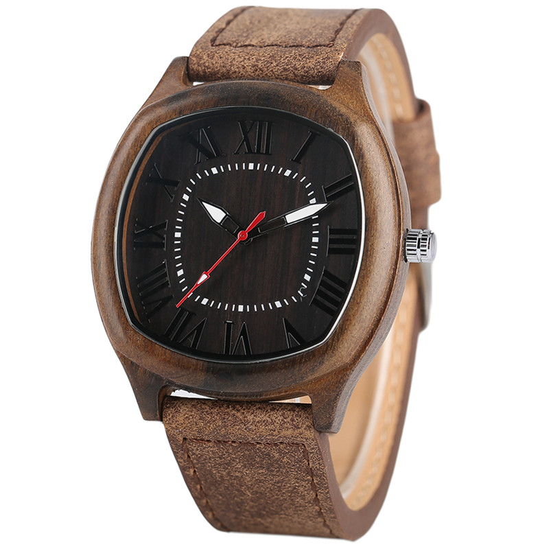 Quartz Wristwatches Clock Gift Hand-Made Male Creative Men's Genuine-Leather Unique High-Quality