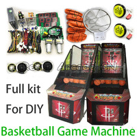 DIY Arcade basketball game machine full kit with PCB motherboard, wires harness, power supply, coin acceptor, ticket dispenser