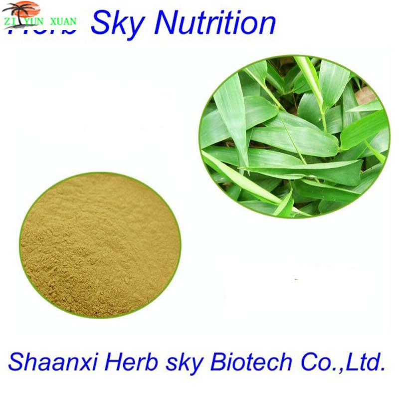 GMP Standard Organic Plant Extract Herbal Extract Powder Bamboo Leaf Extract 100g/lot