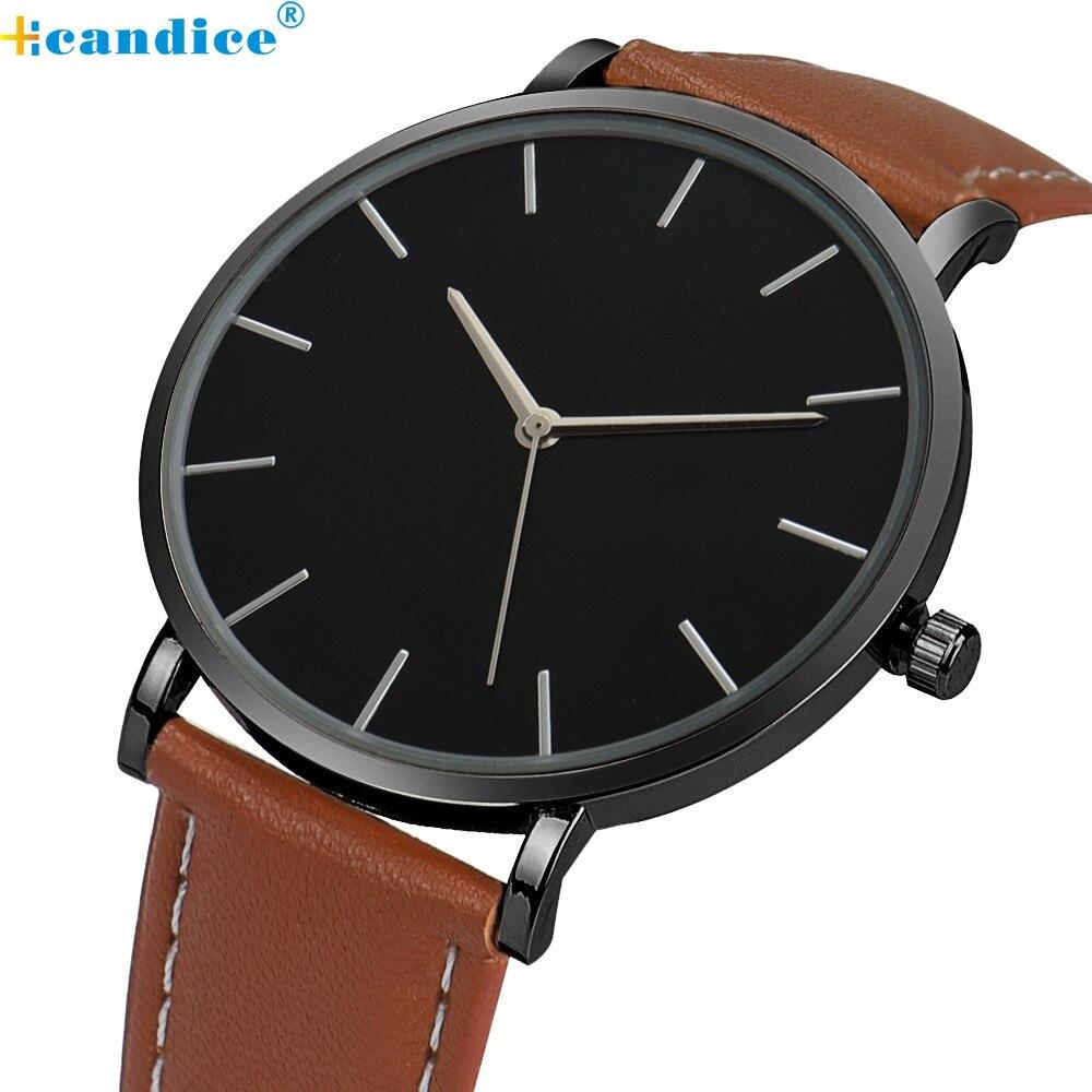 Hcandice Relogio Feminino Masculino Luxury Quartz Famous Brand Gold Leather Band Wrist Men Women Watches Horloge May5