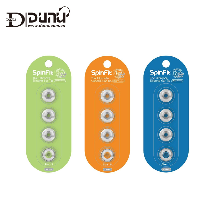 DUNU SpinFit CP145 CP 145 Patented Silicone Eartips for Replacement 4.5 mm Nozzle Dia for DK3001/ FALCON-C for N30/N40/N5005