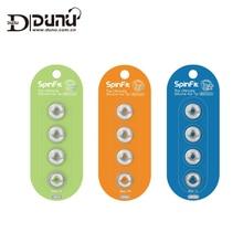 DUNU SpinFit CP145 запатентованная 360 градусов свободного вращения силиконовые ушные наконечники 4,5 мм Насадка Dia для DUNU/Onkyo/KZ/TENNMARK наушники