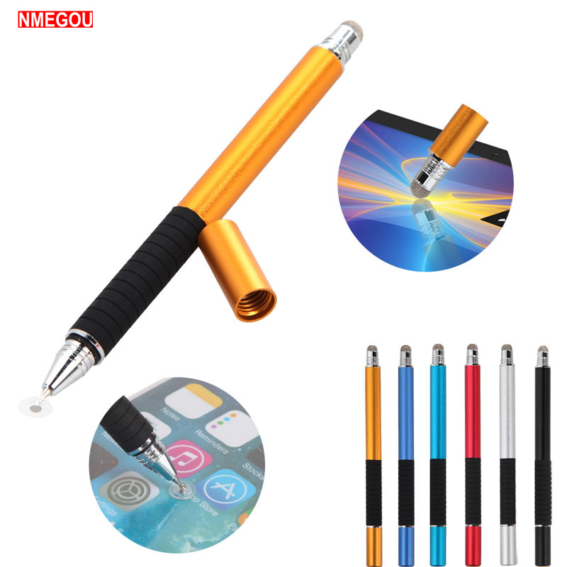 2 In 1 Fine Point Capacitive Stylus Thin Tip Touch Screen Pen For Apple IPad IPod IPhone Smart Tablet Drawing Touchscreen Pencil