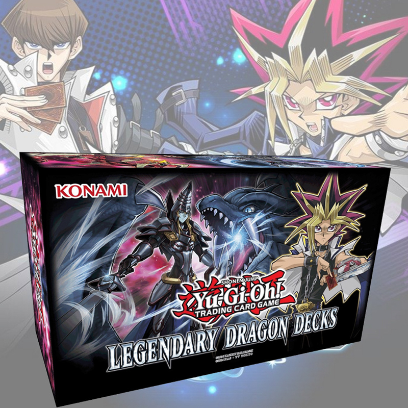 153 pcs/ensemble Yu Gi Oh Négociation Jeu Cartes Légendaire Dragon Ponts Anglais Cartes Anime Yugioh Jeu Cartes Pour Collection HX225