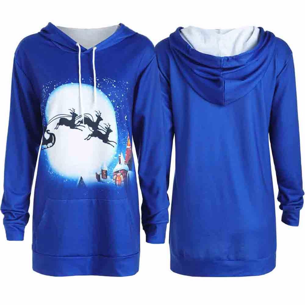Feitong Feminina New 2018 Festival Mujer Hoodies Fashion Women Long Sleeve Tops Christma ...