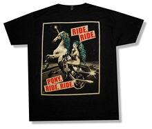 LADY GAGA PONY RIDE BLACK T-SHIRT 2013 CANCELED TOUR NEW OFFICIAL RARE O-Neck Fashion Casual High Quality Print T Shirt