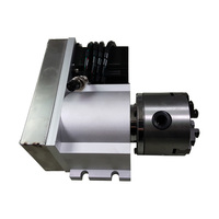 4th Axis A Axis Three Jaw Chuck 80mm Rotary Axis CNC Tailstock Suitable Engraving Machine
