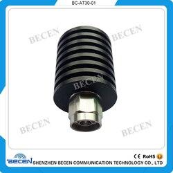 BECEN 30 Вт N мужчин и женщин коаксиальный радиочастотный аттенюатор DC до 3 ГГц и DC до 4 ГГц, 1 дБ, 2 дБ, 3 дБ, 5 дБ, 6 дБ, 10 дБ, 15 дБ, 20 дБ, 30 дБ, 40 дБ, 50 дБ