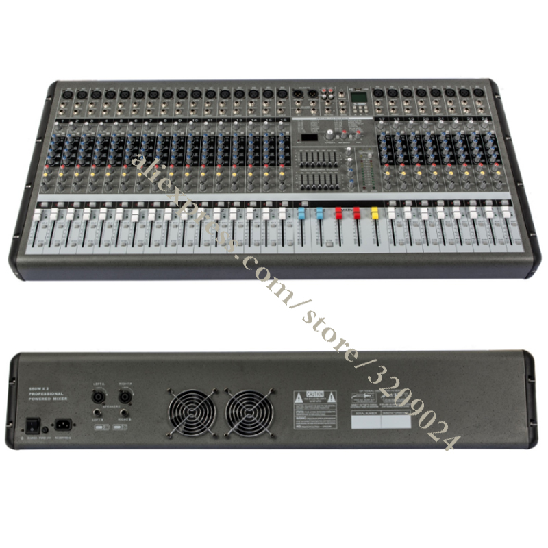 High power Export Mixer High Power 24 Channel Mixer Stage Performance Equipment OEM with USB Recording