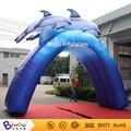 Бесплатная доставка Аквапарк открытый Арочного типа надувной дельфин с бесплатные комплекты игрушки