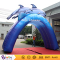 Free shipping Water Park outdoor Arch type inflatable dolphin with free kits toys