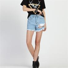 Big Size S M L 3XL 4XL 5XL Summer Sexy Women's Irregular High Waisted Shorts Fashion Slim Fit Denim Jeans Shorts 1002